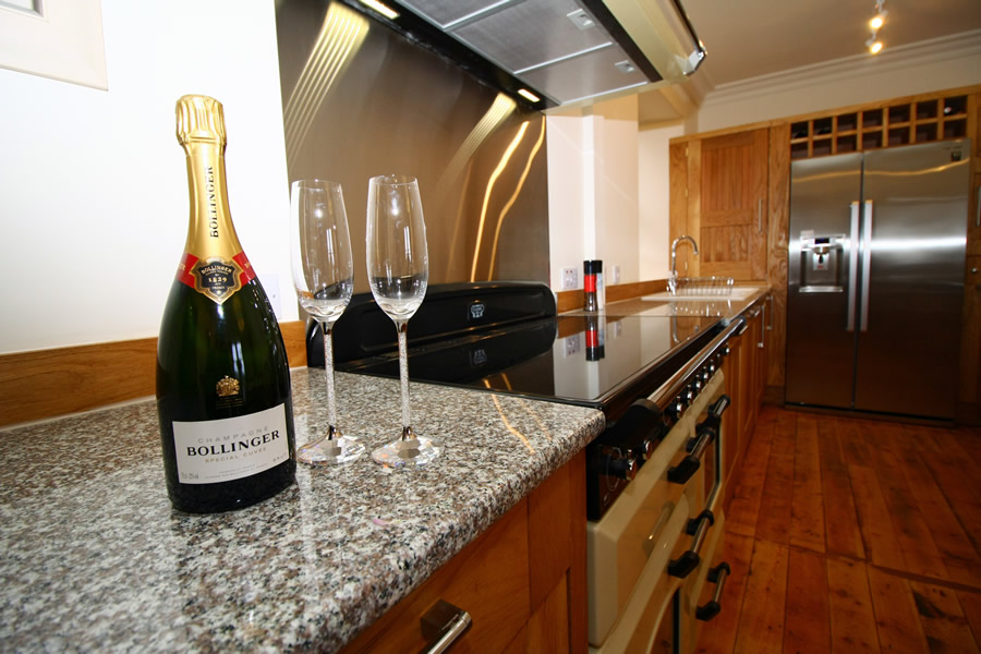 Champagne in Kitchen